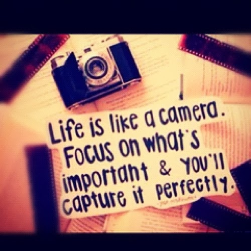 Whats A Good Quote About Life: Life Is Like A Camera. Just Focus On What's Important