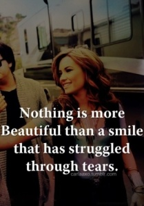 smile through tears